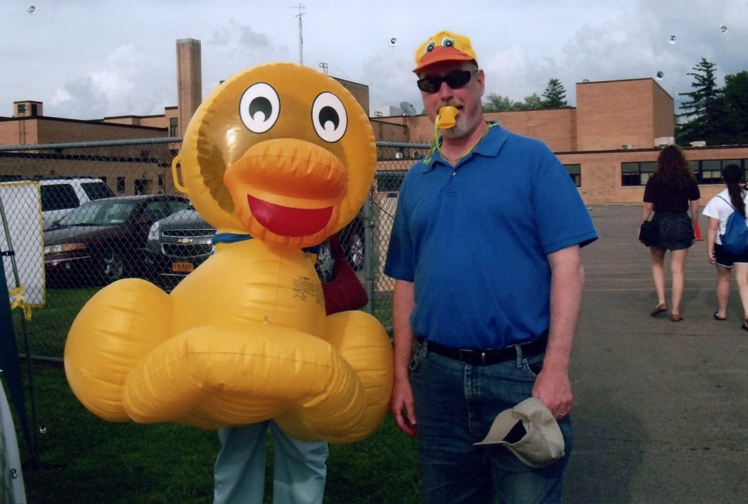 mayor at the ducky derby